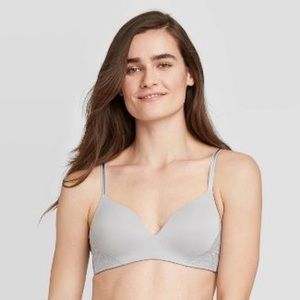 Auden Bliss Lined Wirefree Bra with Lace, 38C